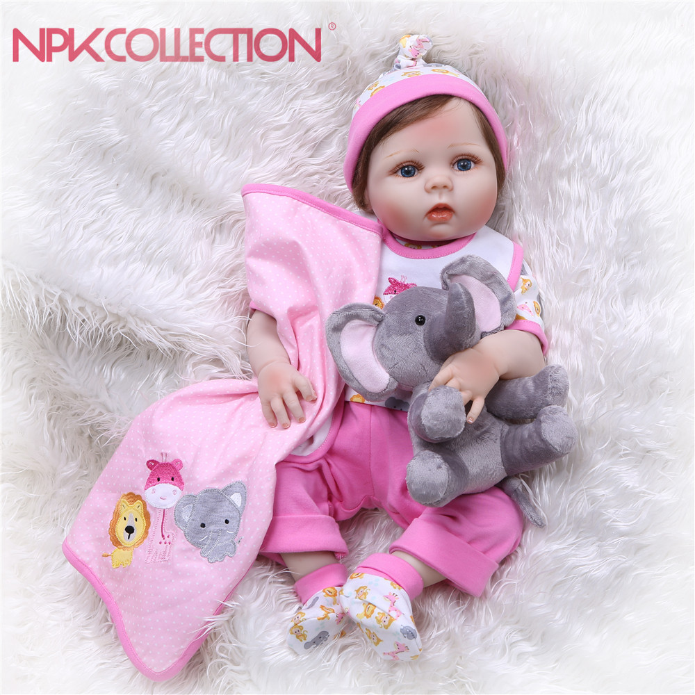 Dolls & Stuffed Toys Toys & Hobbies 18 Inch Doll Vinyl 45cm Vinyl Reborn Baby Doll American Doll Different Hair Style Moneca Bebe Toy For Girls Birthday Gift Fashionable And Attractive Packages