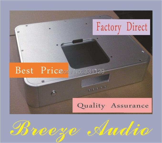 Breeze Audio-aluminum chassis 4308 pusher lid turntable case breeze audio aluminum chassis 4308 preamp aluminum enclosure
