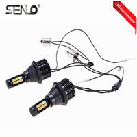 Hot Selling CANBUS Dual Colors 12v 30w 1156 BA15S S25 P21W Auto Bulb LED DRL Day Lamp Turn Signal Light For car Day Running Lamp