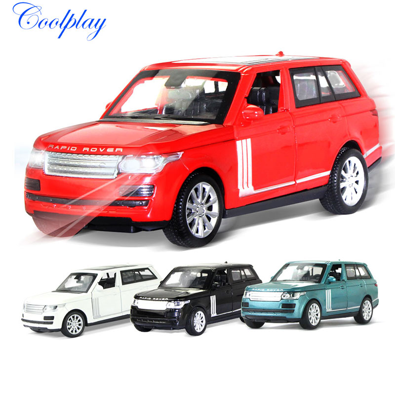 1:32 Scales For Land Rover Range Rover Diecast Alloy SUV Car Model Musical & Flashing Toy Vehicles Collection Toys For Kids )