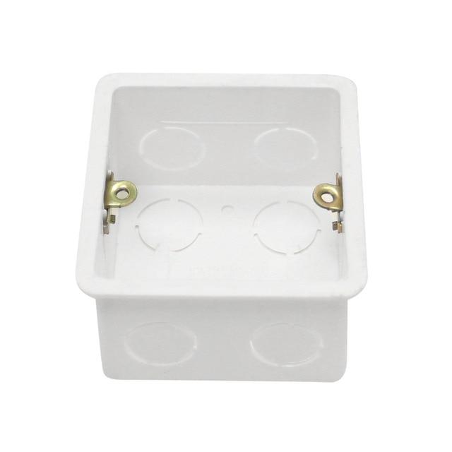 10pcs 86 type junction box PVC Plastic Wall Plate wall mount ...