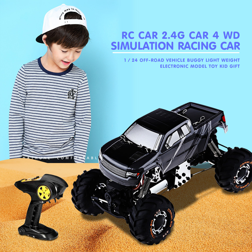 New High Speed mini RC Toy Car 1:24 HBX 2098B 4 Wheel Drive Remote Control Car 2.4G Metal Structure Absorption Present for Kids