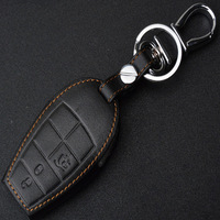 Genuine Leather Auto Key Cover Case Holder For Jeep Fiat Grand Cherokee Dodge Journey Jeep Grand