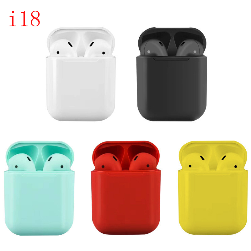 <font><b>i18</b></font> <font><b>TWS</b></font> Mini Wireless <font><b>Earphone</b></font> Pk W1chip 1:1 Touch Control Bluetooth <font><b>Earphones</b></font> Wireless headset mic Headset PK i7S i10 i30 image
