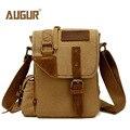 2016 Canvas Leather Crossbody Bag Men Military Army Vintage Messenger Bags Large Shoulder Bag Casual Travel Bags augur 2