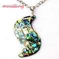 New Fashion Charm S Natural Abalone Shell Splicing Pendant Accessories Silver Plated European Trendy Jewelry 10pcs
