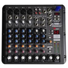 Freeboss RMV8 4 Mono + 2 stéréo canal USB professional audio mixer console