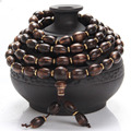 Ethnic Style Malaysian Natural Incense Prayer Beads Bracelets 108  Multilayer Beaded Elastic Accessories Women And Men Jewelry