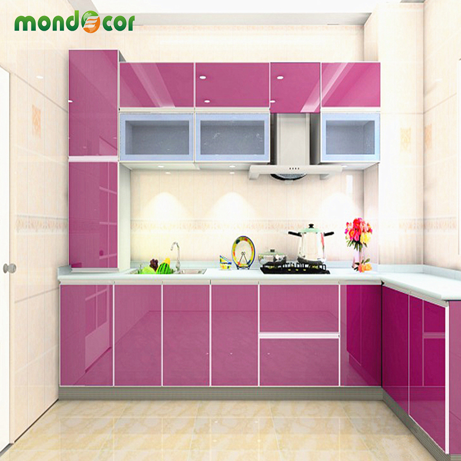 3m Pvc Waterproof Home Decor Wall Stickers Vertical: 3M/5M/10M New Glossy DIY Decorative Sticker Furniture PVC