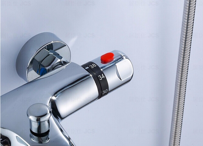 Sierstrip Chroom Badkamer : High quality brass chrome wall mounted bathroom thermostatic faucet