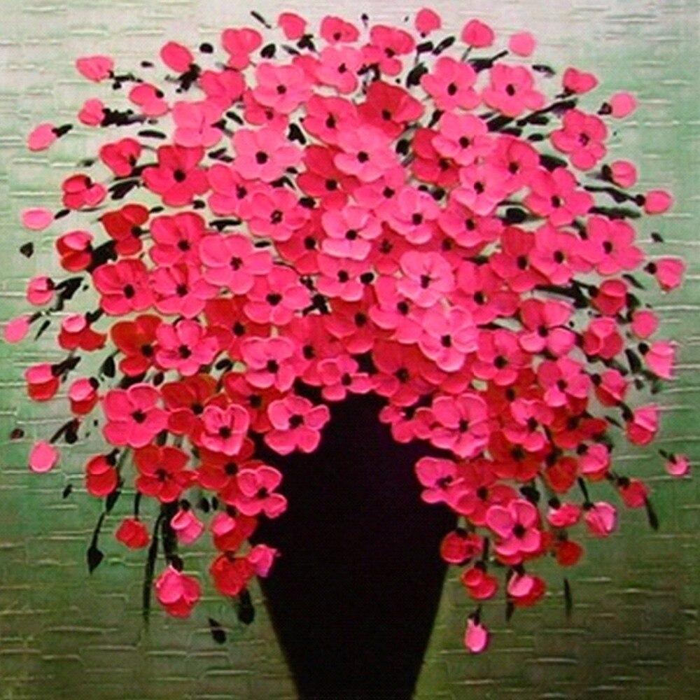 Flowers Pattern Vase Rose DIY 5D Diamond Painting Mosaic Abstract Cross Stitch Diamond Embroidery Kits Decoration Gift