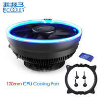 PcCooler 12cm 4Pin CPU Cooling Fan LED Blue Aperture PWM Silent Cooler Radiator Fans For Intel LGA 775/115X for AMD AM2 AM3 AM4