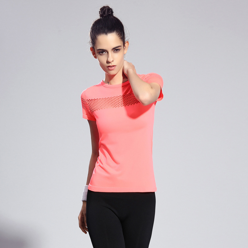 Women Sport T Shirt Short Sleeves Hygroscopic Quick Drying Fitness Gym T-shirt For Running Women Top Clothes Jogging Tees