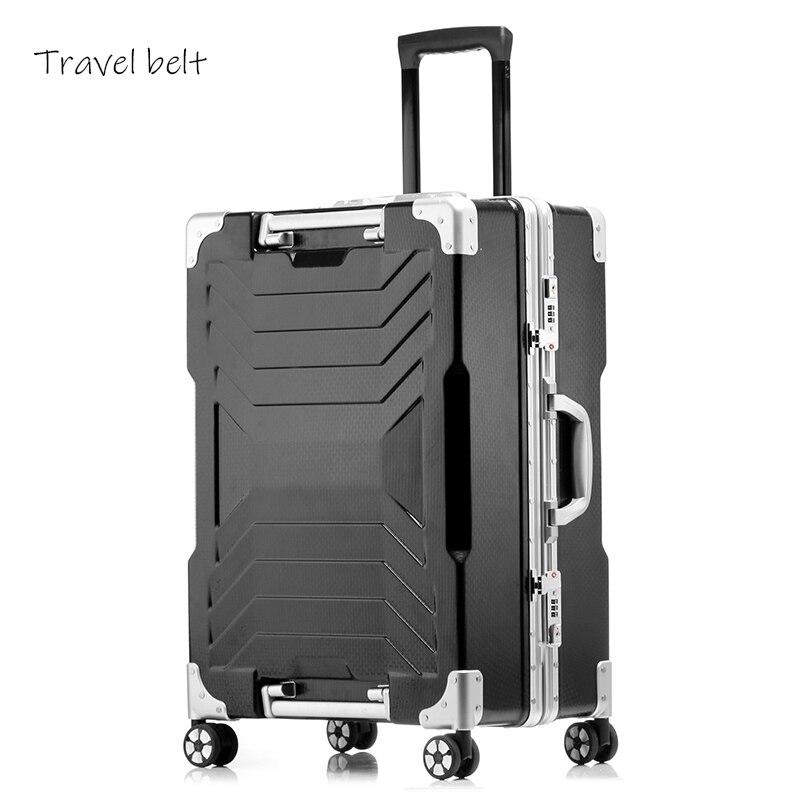 Bagaj ve Çantalar'ten Tekerlekli Bagaj'de High end malzeme 100% alüminyum frame20/24/29 inç boyutunda yüksek kaliteli Haddeleme Bagaj Spinner marka Seyahat bavul'da  Grup 1