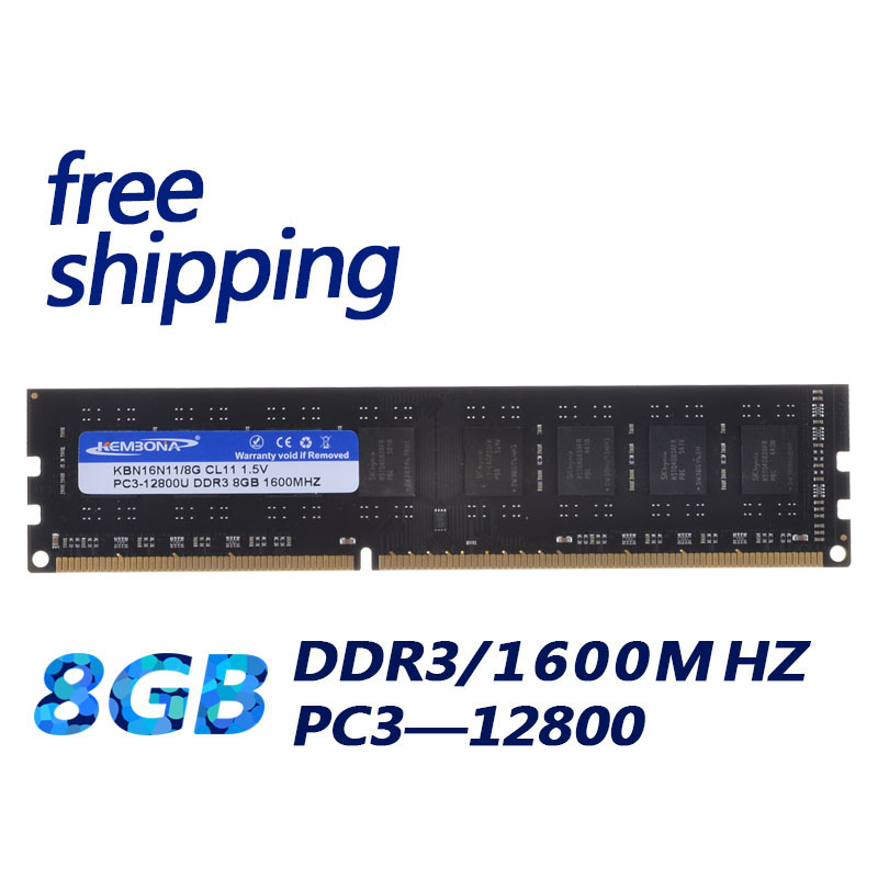 все цены на KEMBONA Desktop DDR3 8GB RAM MEMORY 1600mhz 8G memory module desktop work for all motherboard онлайн