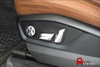 Interior Chrome Mattt Car Seat Adjustment switch Button Cover Trim 6pcs for Audi Q7 2016 2017