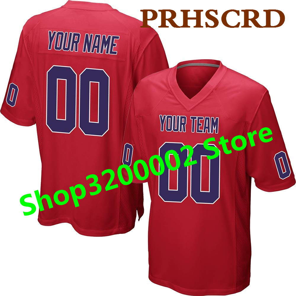 Customized Game Jersey Custom Any Name Any Number Stitched Cheap American football Jersey Top quality Game Red Jersey