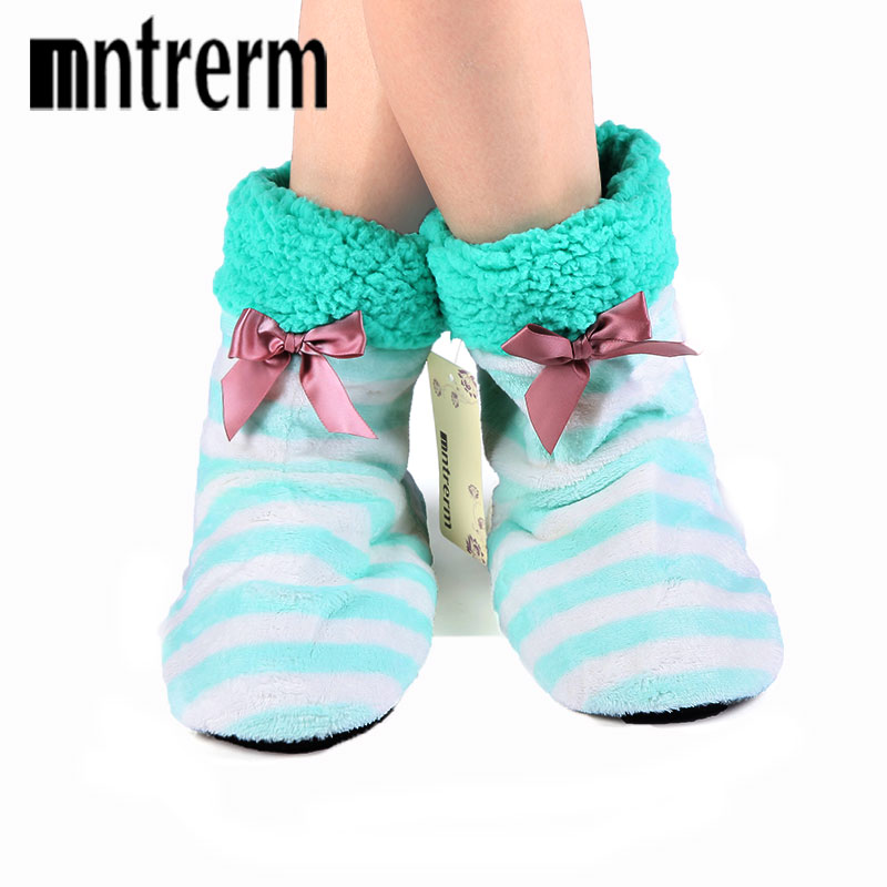 Mntrerm 2017 Home Soft Plush Home Shoes Slippers Cora Plush Indoor Floor Sock Indoor Slipper Winter Foot Warmer Best 8 Color lin king winter warm soft indoor floor slippers women men shoes paw funny animal soft soft plush shoes high quality home shoes