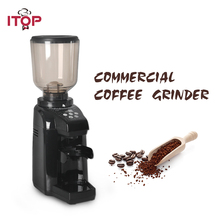 ITOP Commercial Coffee Grinder 500G Hopper Capacity Automatic Coffee Bean Burr Milling Machine Kitchen Coffee Maker Processors best price bulk green coffee bean extract 500g