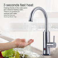 KBAYBO 3000W Instant Tankless Water Faucet Electric Water Heater Instant Hot and Cold Water Tap under Kitchen Sink Water Heating