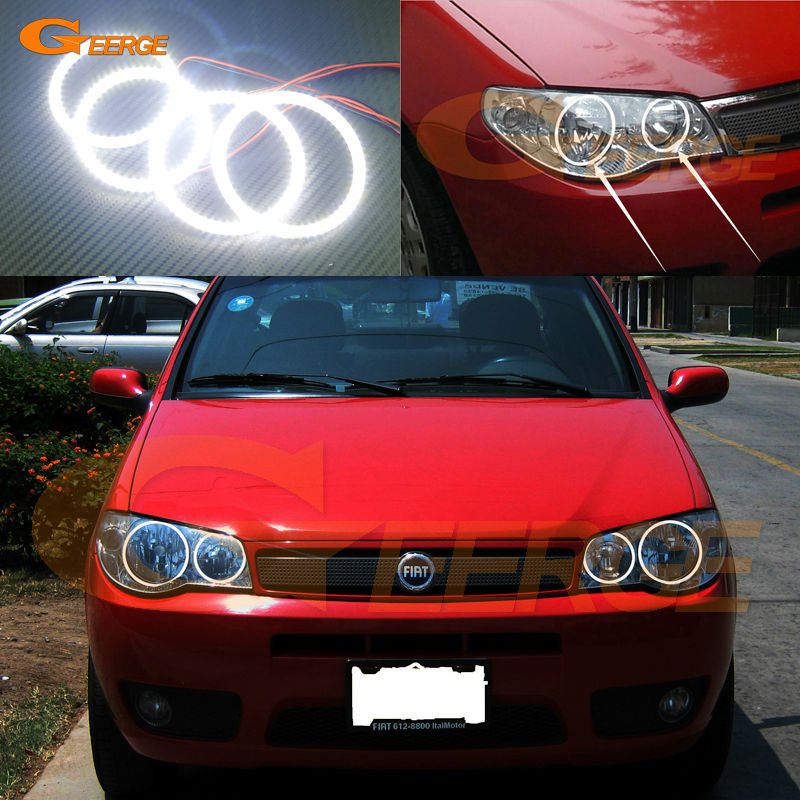 For fiat siena 2004 2005 2006 2007 headlight Excellent Ultra bright illumination smd led Angel Eyes kit Halo Ring for alfa romeo 147 2005 2006 2007 2008 2009 2010 headlight ultra bright illumination cob led angel eyes kit halo rings