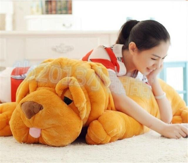 about 47 inch shar pei dog plush toy 120cm doll ,Christmas gift w4704 free shipping about 60cm cartoon totoro plush toy dark grey totoro doll throw pillow christmas gift w4704