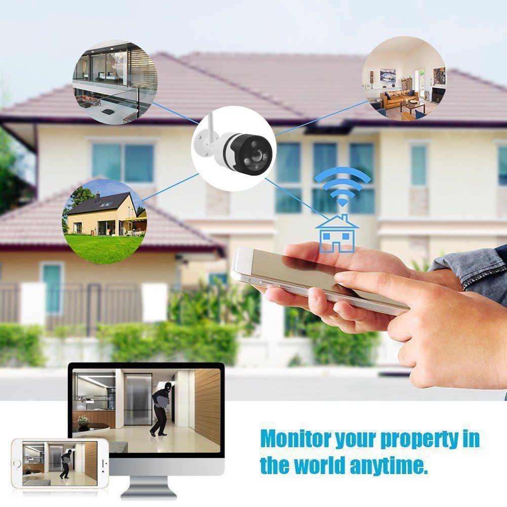HD монитор водостойкий вращающийся ночное видение действие Универсальный 360 ° панорамный wifi Беспроводная камера широкоугольный портативный открытый