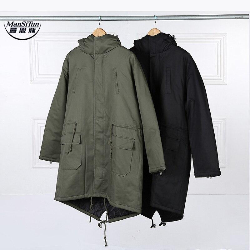 Man Si Tun 2017 Fashion Korean Hot Sale Men s Japan Jacket Overcoat Kanye West Long