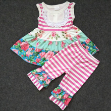 2019 Newly Summer Flower Top And Shorts Baby Clothes Outfits Cheap Wholesale Kids Clothing Set Chinese Manufacturers