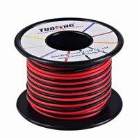 16 awg Dây, 66 feet silicone dây Mềm một dây đồng nhiệt độ Cao sức đề kháng 2 tách ra dây 33 ft Màu Đen và 33 ft màu đỏ