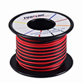 Cable de 16 awg, cable de silicona de 66 pies alambre de cobre suave resistencia a altas temperaturas 2 cables separados 33 pies negro y 33 pies rojo