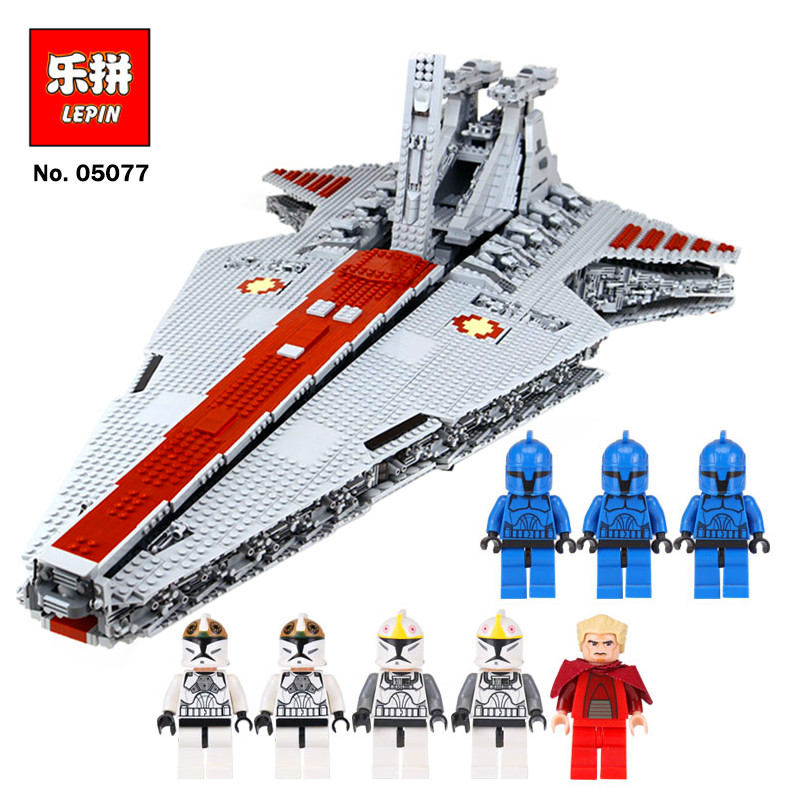 Lepin 05077 6125PCS Star Classic Wars The Ucs ST04 Set Republic Cruiser Educational Building Blocks Bricks Toys legoing Gift lepin 05077 stars series war the ucs rupblic set star destroyer model cruiser st04 diy building kits blocks bricks children toys