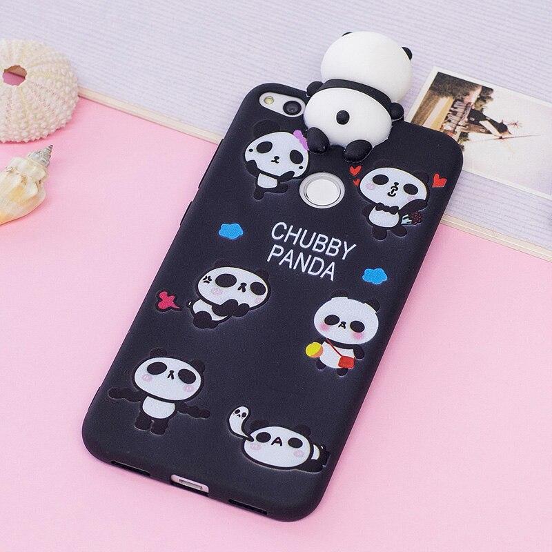 Galleria fotografica P8 Lite 2017 Kawaii 3D Cartoon Unicorn Panda Soft tpu Silicon Back Phone Cover For Coque Huawei P8 Lite 2017 Case Rubber Shell