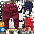 2016 nuevo Macho niño ropa de bebé niño deportivos pantalones largos pantalones vaqueros de primavera y otoño pantalones vaqueros de los niños pantalones de mezclilla bebé pantalones