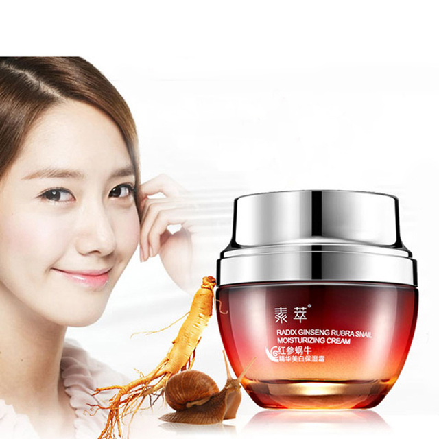 Red Ginseng Snail Cream Black Head Acne Treatment Ageless Skin Care Whitening Face Cream Anti Winkles Beauty Day Cream