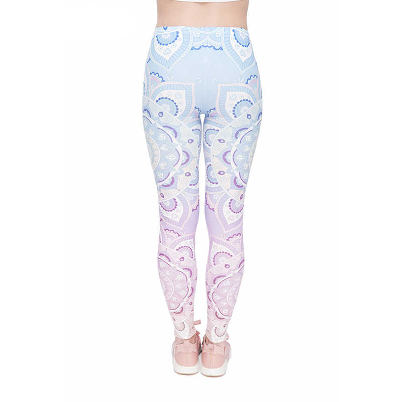 Pink Sun Flower Print Women Leggings High Elasticity Leisure Leggins Body Building Quick Drying Cute Trouser Pants
