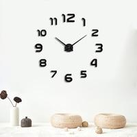 Muhsein Freeshipping 2019 New Metal Modem Wall Clock Acrylic Mirror Wall Watch home decoration Clocks Super Big 130cm x130 cm