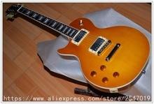 Hochwertige Shop linken Elektrische lp Gitarre Tobacco Burst farbe maple top Standard left hand LP Guitarra