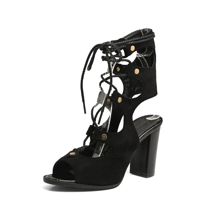 Summer new joker han edition peep-toe cross strap shoes rivets to heavy shoes yards Roman sandals thick with large sandals women  han edition diamond thick bottom female sandals 2017 new summer peep toe fashion sandals prevent slippery outside wear female
