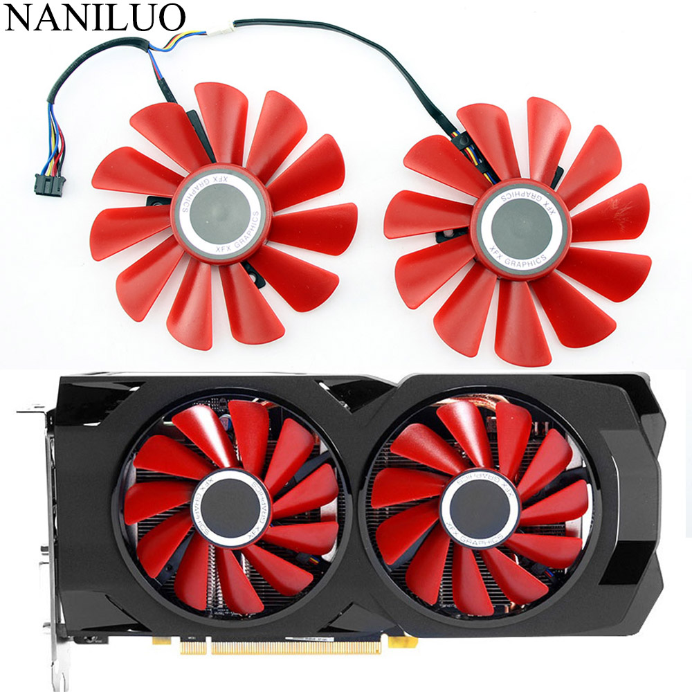 85MM Diameter RX-570-RS RX-580-RS FD10U12S9-C  For XFX RX570 RS RX580 RS Video Graphics Cards Cooling As Replacement Fan