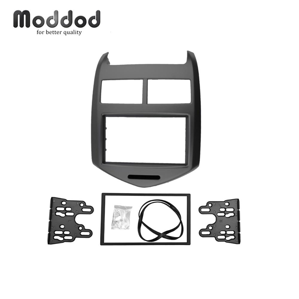 Double Din Fascia for CHEVROLET AVEO 2011 Radio DVD Stereo Panel Dash Mount Kit Dashboard Refit