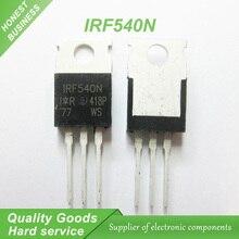 10 шт. бесплатная доставка IRF540N IRF540 IRF540NPBF К-220 MOSFET 100 В 33A 44 мом 47.3nC новый оригинальный