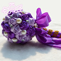 New Mixed Colors Sparkle Artificial Flowers Crystal Wedding Bouquets Pearls Brooch Bouquets Bridesmaid Bouquet Buque de Noiva