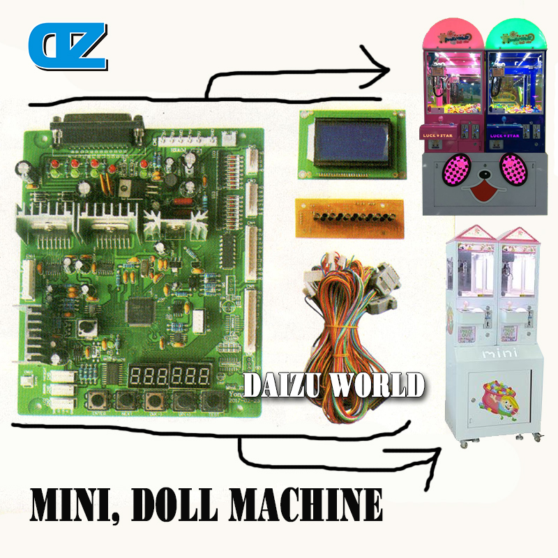 LED Screen Toy Crane Machine Board Kits , Arcade Toy Crane mainboard , Coin Operated Doll Machine ,Claw Machine good quality coin operated tabletop gumball vending machine desktop capsule vending cabinet toy penny in the slot coin vendor