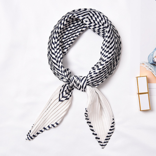 Pleated Small Square Scarf...