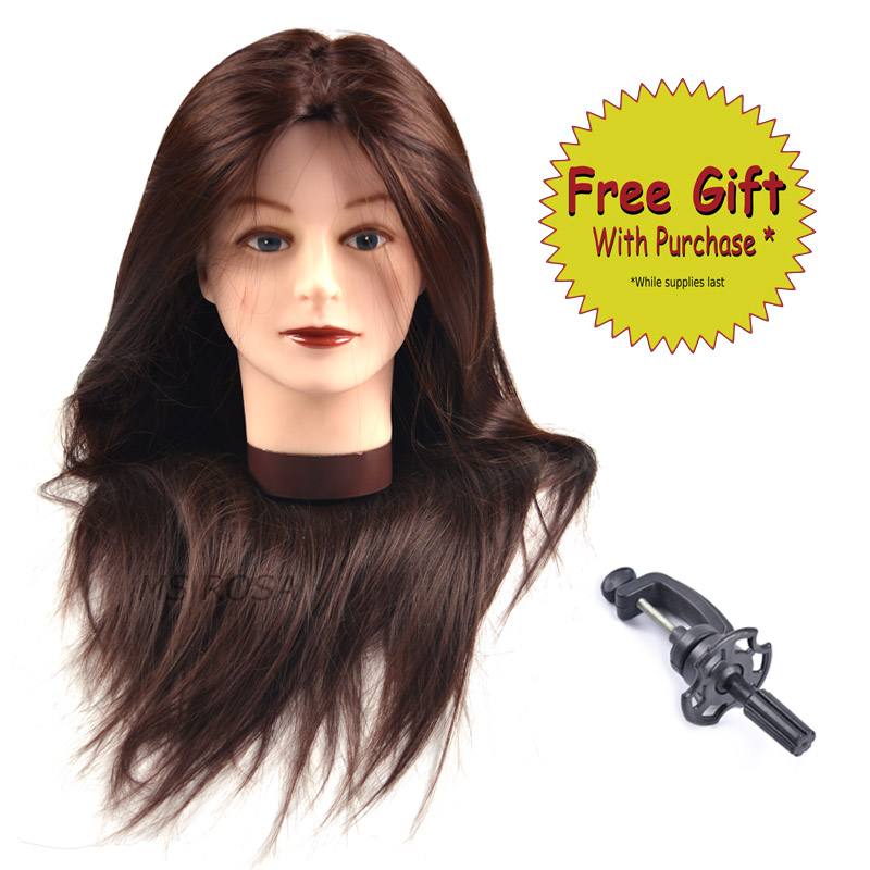 Competent Color Training Mannequin Head Female Hair Head Doll 22 Inches Mannequin Doll Head Hairdressing Training Heads Styling