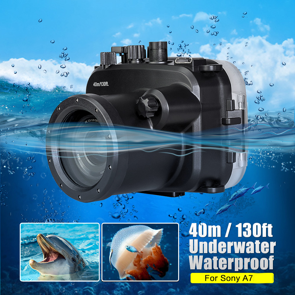camera waterproof box diving shooting case underwater camera housing bag (4)