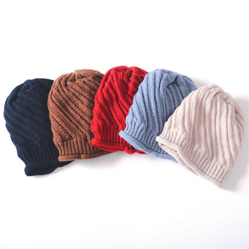 Women Knitted Hat Beanies Men Winter Hats Bonnet Caps Baggy Women's Winter Hats For Men Warm Wool Skullies Beanie New 2017 brand winter beanies men knitted hat winter hats for men warm bonnet skullies caps skull mask wool gorros beanie 2017