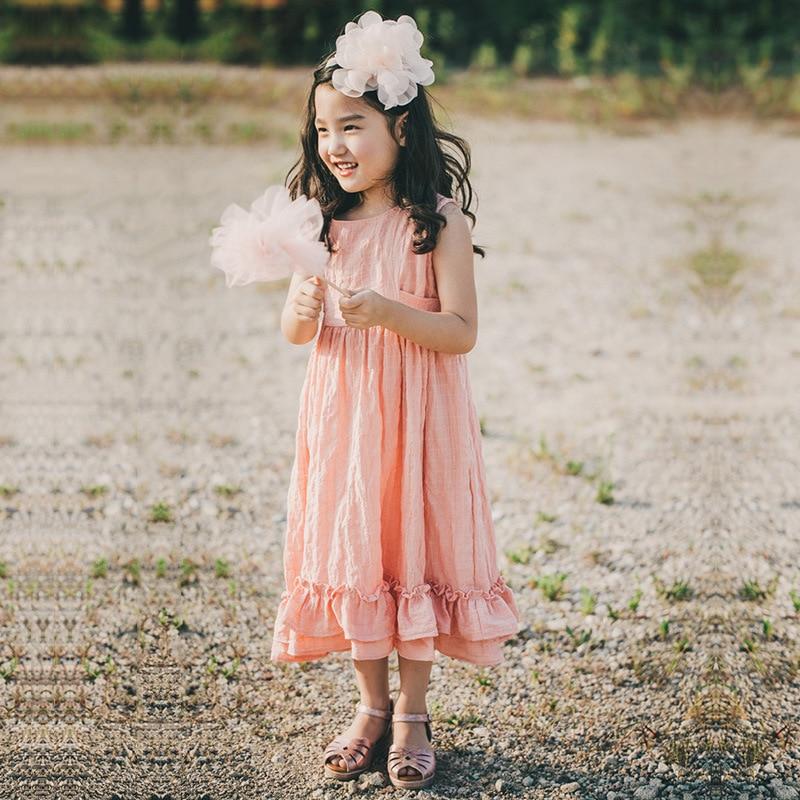 2018 καλοκαίρι νέο κορίτσι βαμβάκι λινό - Παιδικά ενδύματα - Φωτογραφία 2