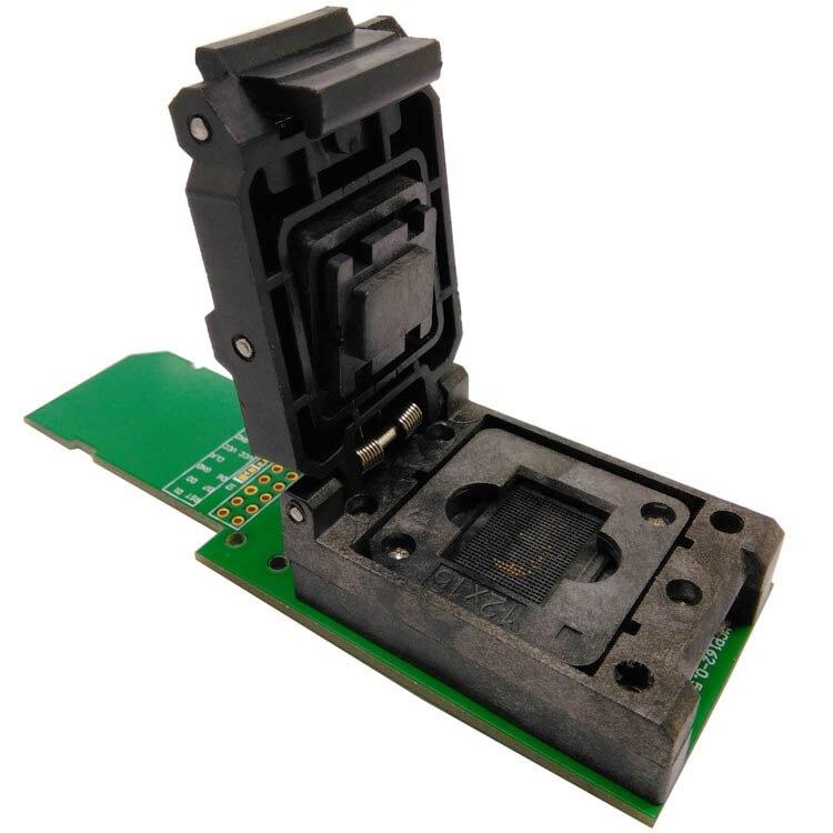eMCP162/186 Test Socket BGA162 BGA186 Reader IC Size 11.5x13mm Pin Pitch 0.5mm Nand Flash Programmer Adapter Data Recovery free shipping program ch2015 usb high speed programmer pitch 0 5mm 2x3 qfn8 to dip8 socket eeorom spi flash data flash